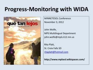 Progress-Monitoring with WIDA