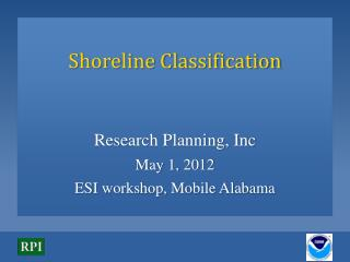 Shoreline Classification