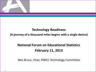 Technology Readiness (A journey of a thousand miles begins with a single device)