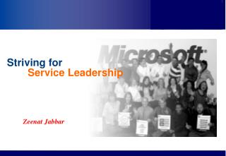 Striving  for  Service Leadership
