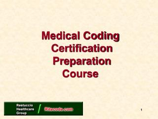 Medical Coding  Certification  Preparation Course
