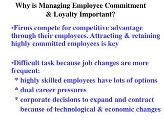 Why is Managing Employee Commitment & Loyalty Important?