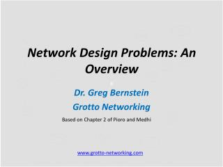 Network Design Problems:  A n Overview