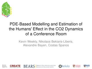 PDE-Based Modelling and Estimation of the Humans' Effect in the CO2 Dynamics of a Conference Room