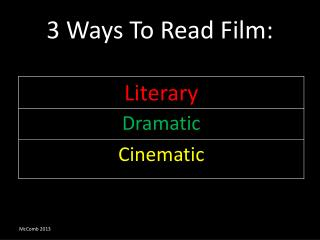 3 Ways To Read Film:
