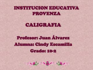INSTITUCION EDUCATIVA PROVENZA