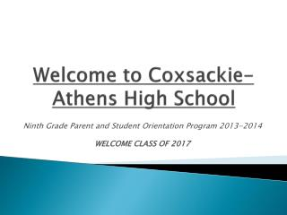 Welcome to Coxsackie-Athens High School