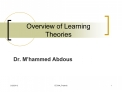 Overview of Learning Theories