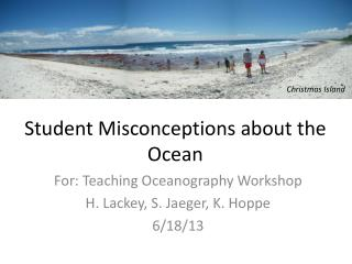 Student Misconceptions about the Ocean