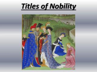 Titles of Nobility