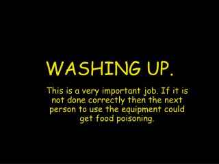 WASHING UP.