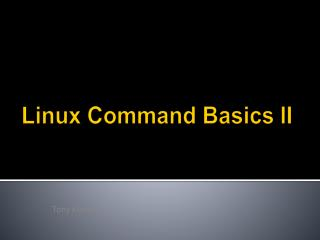 Linux Command Basics II