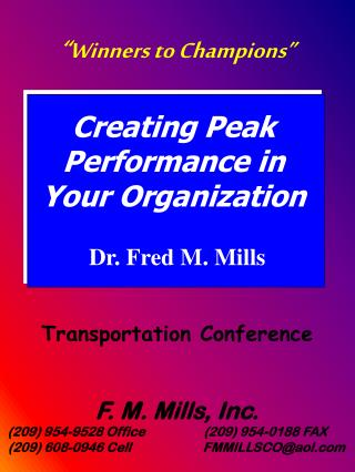 Dr. Fred M. Mills
