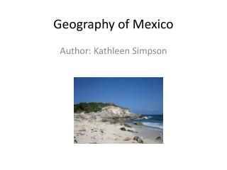 Geography of Mexico