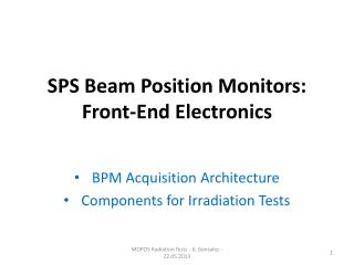 SPS Beam Position Monitors: Front-End Electronics