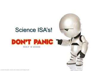 Science ISA's!