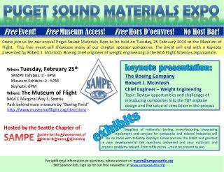 Puget Sound Materials Expo