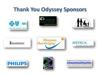 Thank You Odyssey Sponsors