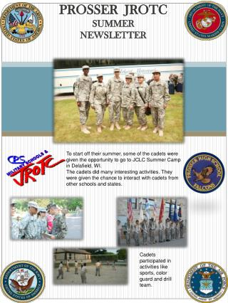 PROSSER  JROTC SUMMER NEWSLETTER