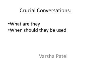 Crucial  Conversations :