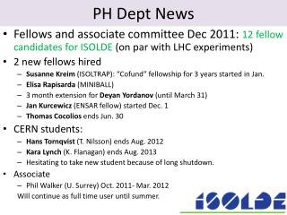 PH Dept News