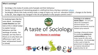 Lesson 2   Theories and Theorists How we understand the social world