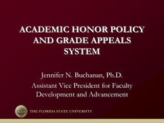 ACADEMIC HONOR POLICY AND GRADE APPEALS SYSTEM