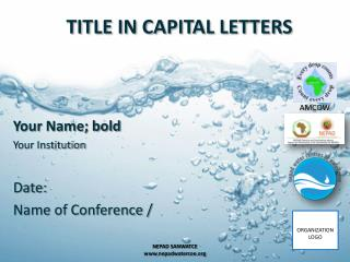 TITLE IN CAPITAL LETTERS
