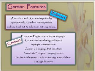 German Features