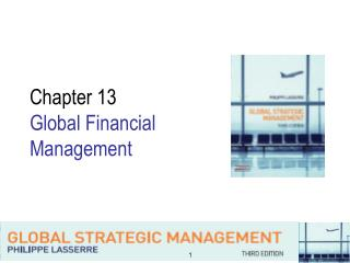 Chapter 13  Global Financial  Management