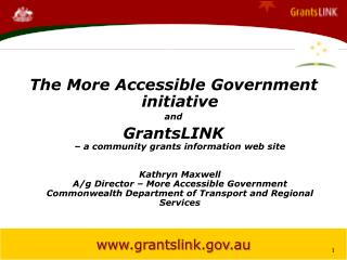 The More Accessible Government initiative  and