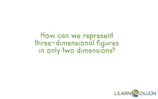 How can we represent three-dimensional  figures in  only two dimensions?