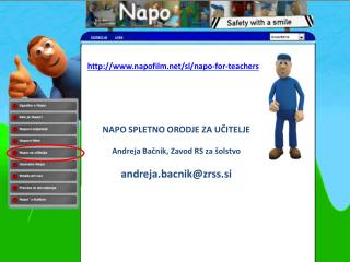 napofilm/sl/napo-for-teachers NAPO SPLETNO ORODJE ZA U?ITELJE