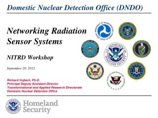 Networking Radiation Sensor Systems NITRD  Workshop September 20, 2012