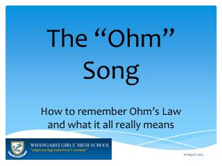 "The ""Ohm"" Song"