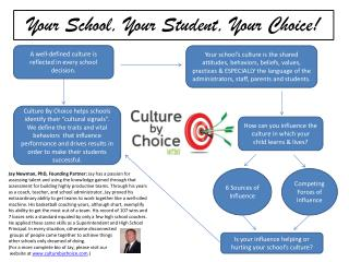 Your School, Your Student, Your Choice!