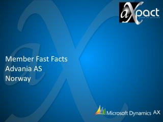 Member Fast Facts Advania  AS Norway