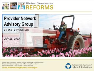 Provider Network Advisory Group