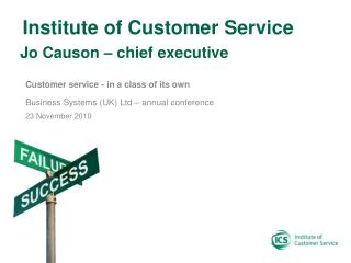 Jo Causon – chief executive