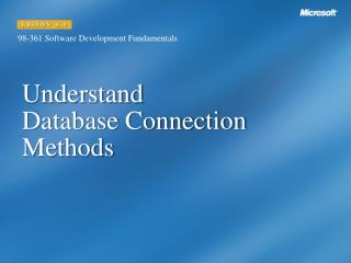 Understand  Database Connection Methods