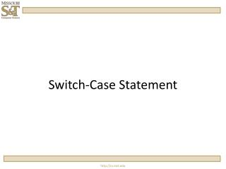 Switch-Case Statement