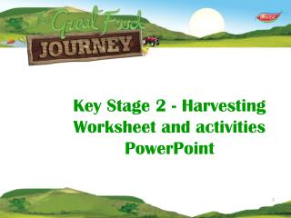 Key Stage 2 - Harvesting   Worksheet and activities PowerPoint