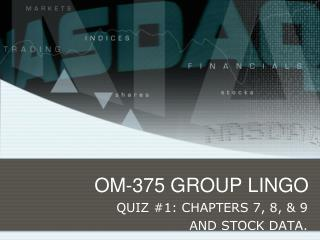OM-375 GROUP LINGO