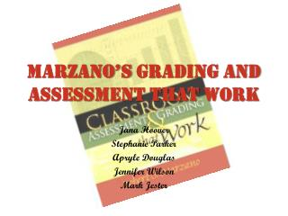 Marzano's  Grading And Assessment That Work