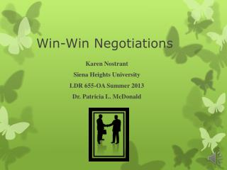Win-Win Negotiations