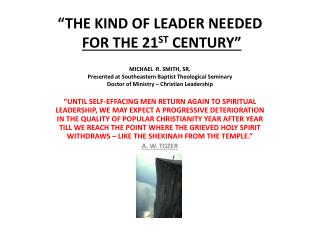 A DEFINITION OF A LEADERSHIP