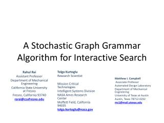 A Stochastic Graph Grammar Algorithm for Interactive Search