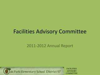 Facilities Advisory Committee