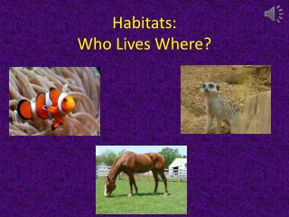 Habitats: Who Lives Where?