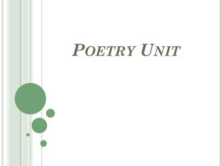 Poetry Unit